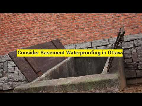 Basement Waterproofing in Ottawa - Foundation Experts