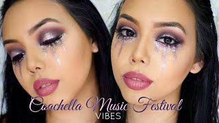 COACHELLA/MUSIC FESTIVAL MAKEUP TUTORIAL 2017   Halo Eyes & Glitter Tears