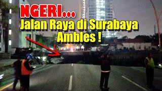 Video Kejadian Jalan Raya Gubeng Surabaya Ambles