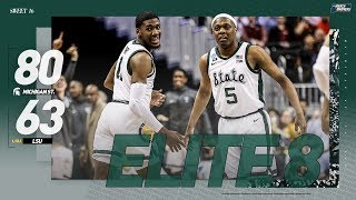 Michigan State vs. LSU: Sweet 16 NCAA tournament extended highlights