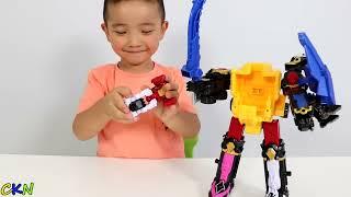 Power Rangers DX Ninja Steel Megazord Toys Unboxing Fun With Ckn Toys