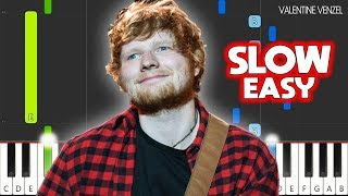 Cross Me - Ed Sheeran feat. Chance The Rapper & PnB Rock - SLOW EASY Piano Tutorial