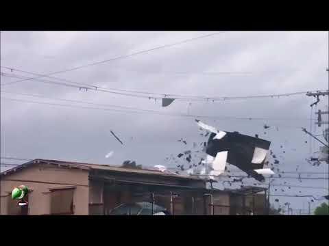 大自然恐怖的力量,令人震驚的颱風!2 (影片出處:Mary)
