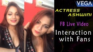 Actress Ashwini Interaction with Fans || FB Live Video || Vega Entertainment