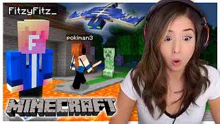 Minecraft is TOO SCARY! Fitz and Pokimane Part 3!