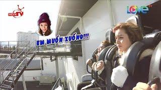 Mlee cùng Ribi Sachi Faptv la hét hoảng loạn khi đi tàu lượn siêu tốc 'khủng' tại Nhật Bản