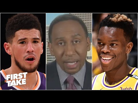 Stephen A. reacts to Devin Booker's foul on Dennis Schroder: Was it a dirty play? | First Take
