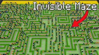So I Trapped 300 Kids in an INVISIBLE Maze