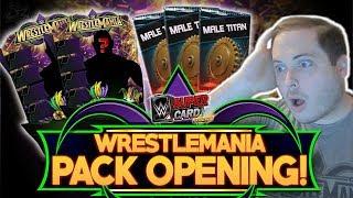 WRESTLEMANIA 34 (WM34) 125K PACK OPENING!! INSANE LUCK! | WWE SuperCard S4
