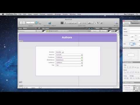 FileMaker Pro 12 Tutorial | Building Different Views