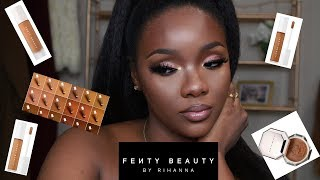 FENTY BEAUTY PRO FILTER CONCEALERS, SETTING POWDER AND FOUNDATION REVIEW/DEMO ON DARK SKIN