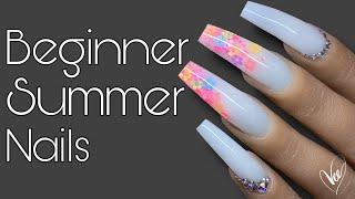 Beginner Nail Tech Summer Nails | Nail Tutorial | Not Polish