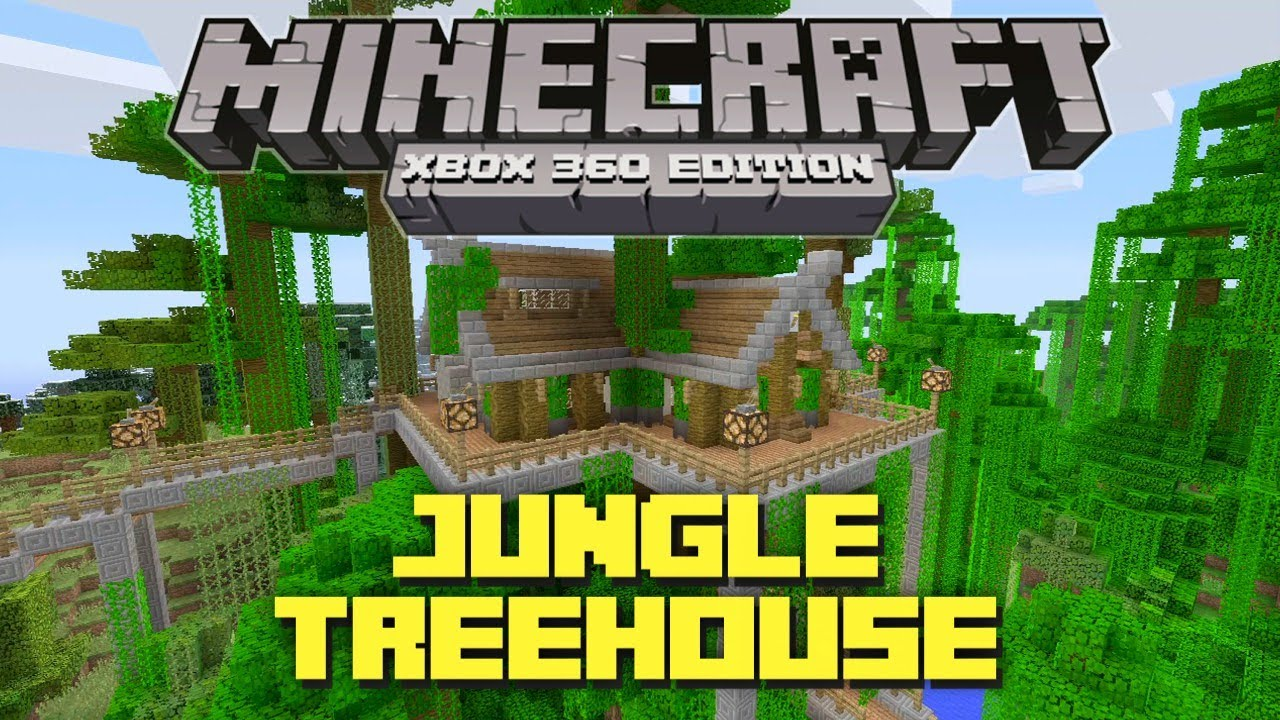 Minecraft Xbox 360: Cool Jungle Treehouse! (TU12 Creation ...