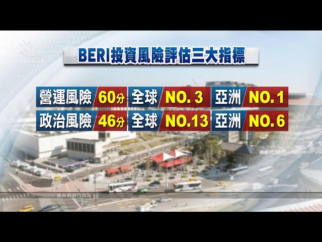 BERI投資環境評估 台灣穩定、全球第3