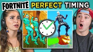 Adults React To Perfect Timing Fortnite Compilation