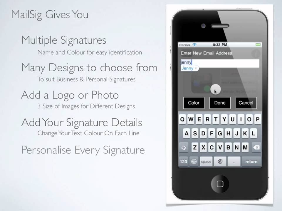 how to add email signature on iphone 8