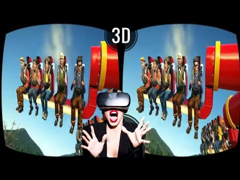 Planet Coaster VR 3D SBS VIDEO 60fps Roller Coaster Theme Park