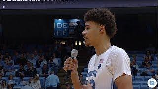 UNC Men's Basketball: Cameron Johnson's Senior Night Speech