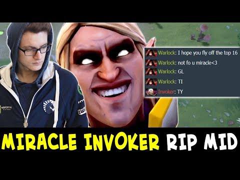 Miracle INVOKER vs Tinker SPAMMER — mid DESTROYED