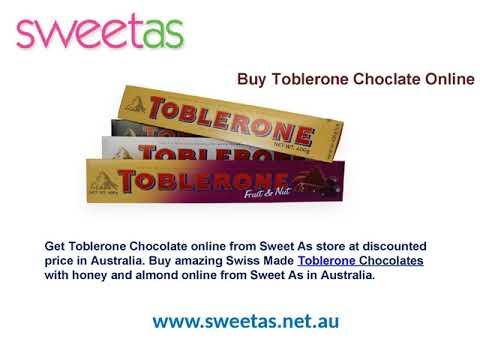 Sweet As- Get Toblerone Chocolate Online