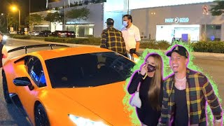 Austin McBroom And Catherine Paiz Arrive At BOA In Their Lamborghini!