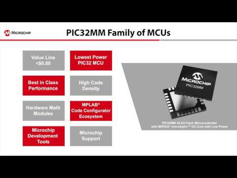 Microchip® Technology Inc. announced the company's lowest power and most cost-effective family of 32-bit PIC32 microcontrollers (MCUs).