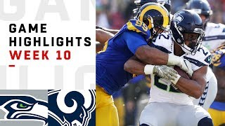 Seahawks vs. Rams Week 10 Highlights | NFL 2018