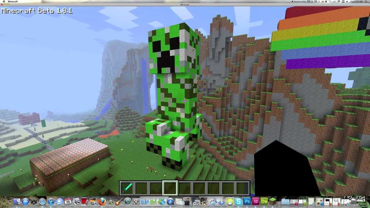 Minecraft Pixel Art - Creeper - Tutorial - YouTube