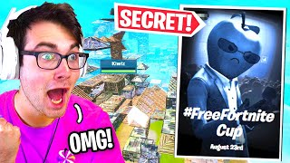 I played in the #FreeFortnite CUP and DOMINATED... (secret skin)