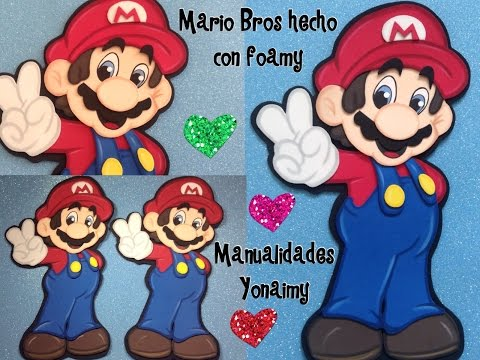 MARIO  BROS  HECHO CON  FOAMY O  GOMA EVA  PARTE 1