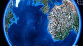 Earth's Equator after 40 degree Axis Shift (closeup)