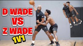 Dwyane Wade vs Zaire Wade *INTENSE* 1v1