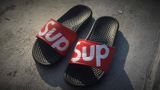 How To Make Custom Supreme Nike Sandals