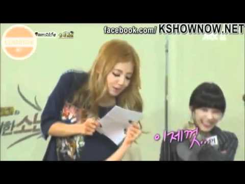 SNSD Hyoyeon reading in sexy manner~