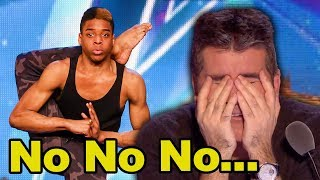 Judges Can't Bear To Watch! 17-year-old 'Bonetics' Has Simon Cowell Feeling Sick!