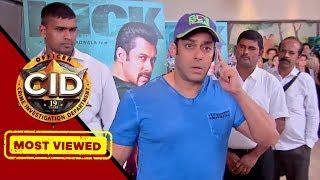 Salman khan at cid tv show for kick's promotion youtube.