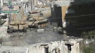 Siria: Tanque T-72 incursiona en la Ciudad de Daraya (2da parte)