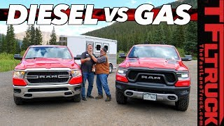 Can the 2020 Ram EcoDiesel Out-tow the Mighty HEMI on the World's Toughest Towing Test? Ike Gauntlet