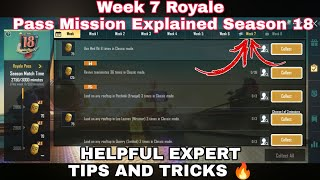Season 18 Week 7 Royale Pass Mission Explained PUBG Mobile | Week 7 All RP Missions Pubg Season 18