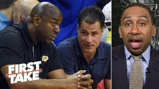 Magic Johnson is a novice, Rob Pelinka is 'despised' by people in the NBA - Stephen A.   First Take
