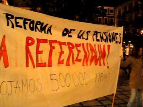Las pensiones, a referendum