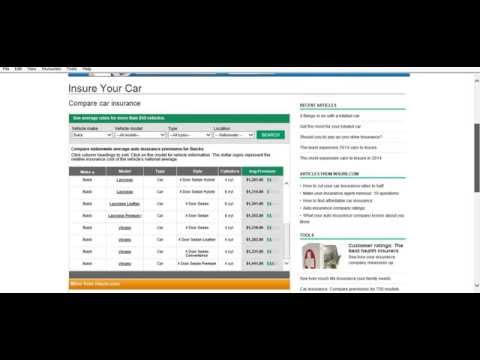 Build your own car insurance premium calculator and buy cheap insurance