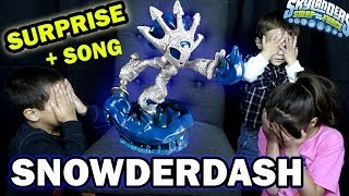 Skylanders Swap Force SNOWDERDASH Surprise! Let's Paint pt. 5 + Song (Holiday Employee Edition)