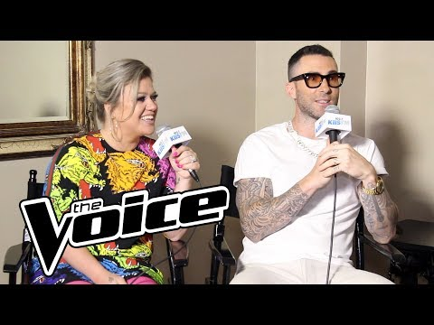 Adam Levine & Kelly Clarkson Talk Kelly's Win Last Season & The Return Of The Block Button  & More!