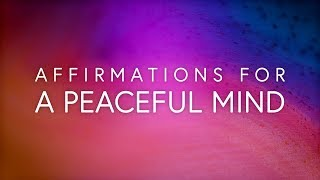 Affirmations for a Peaceful Mind, 432 Hz, Throat and Sacral Synergy