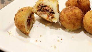 Cuban Stuffed Potato Balls like Porto's Cafe | Rookie With A Cookie