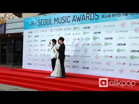 24th Seoul Music Awards red carpet: Soyu & Leeteuk