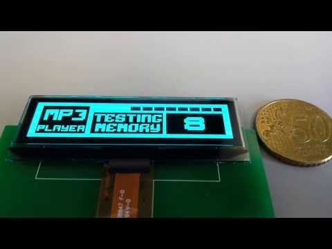 Demo Of 128x32 2.23'' PM OLED Blue | SSD1305 | 8080, 68xx, SPI Interface