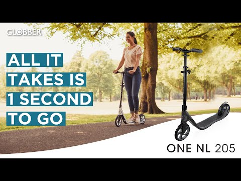 Video GLOBBER ONE NL 205 Ride Scooter Black Charcoal Gray