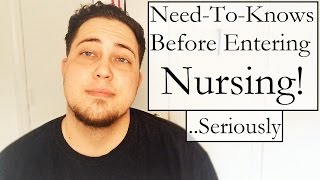 Need-to-Knows Before Entering Nursing! (The Good, The Bad & The Ugly)